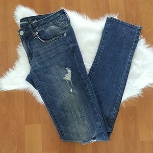 American Eagle destroyed skinny jeans size 6 R